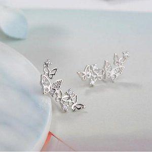 Jewelry - COPY - *NEW Sterling Silver Diamond Butterfly Ear…
